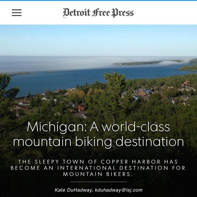 Copper Harbor mountain biking was featured yesterday in the Detroit Free Press! Check out the link for the great article http://www.freep.com/longform/life/2015/08/04/michigan-world-class-mountain-biking-destination/31137727/ #mountainbiking #copperharbor #puremichigan #michigan #imba #trails #ridecenter
