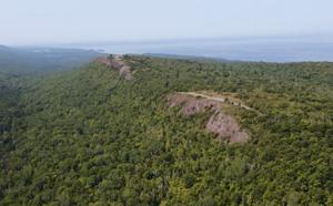 Aerial of Brockway Mountain Drive ~ E.Neil Harri